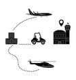 transport and logistics vector image