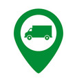 truck map pointer icon vector image