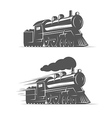Vintage steam train isolated on white background vector image