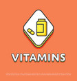 vitamins colour icon in line design vector image vector image