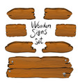 wooden signs set vector image vector image