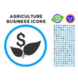 eco startup rounded icon with set vector image