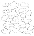 Hand drawing set of cloud for adding text or vector image