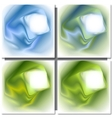 Set of abstract colorful square backgrounds vector image
