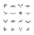 Set of eagles vector image