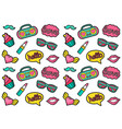 seamless fashion patches pattern cute and vector image