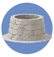a stone well vector image