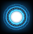 abstract circle technology background vector image vector image