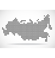 Abstract map of Russia from round dots vector image vector image