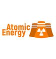 atomic energy logo and icon energy label for web vector image vector image