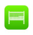 baby bed icon digital green vector image