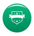 badge vintage icon green vector image vector image