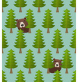 Bear forest seamless pattern vector image vector image