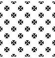 Black flower geometric seamless pattern 2 vector image