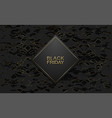 black friday luxury banner golden text on black vector image vector image