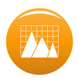 business chart icon orange vector image vector image