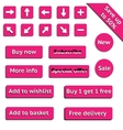 Buy web pink buttons for website or app vector image vector image