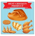 chicken products set vector image