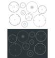 circular blade saw drawings set vector image vector image