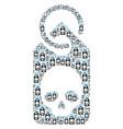 death skull tag icon figure vector image vector image