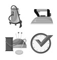 design of laundry and clean icon set of vector image vector image