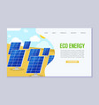 ecology renewable energy power consumption vector image