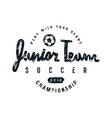emblem soccer junior team vector image