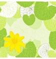 Fresh green leaves background vector image