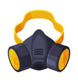 gas mask respirator with filters pest control vector image