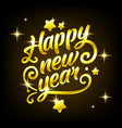 golden happy new year sign 2019 holiday vector image vector image