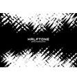 halftone dots pattern frame horizontal background vector image vector image