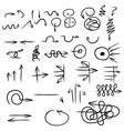 Hand drawing many styles of arrow vector image