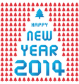 happy new year 2014 card37 vector image vector image
