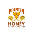honey product icon honeycomb dipper spoon vector image vector image