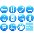 hotel icons on buttons vector image vector image