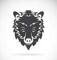 images of bear head on a white background vector image vector image