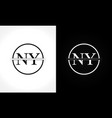 initial monogram letter ny logo design template vector image vector image