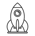 kid amusement rocket icon outline style vector image vector image