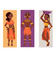 maasai african people cards in traditional vector image vector image