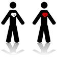 Man heartbeat vector image vector image