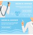Medical Horizontal Banners Webpage Design vector image
