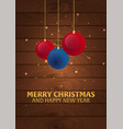 merry christmas and happy new year wooden vector image