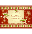Merry Christmas Background with stars snowflakes vector image vector image