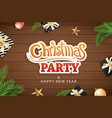 merry christmas invitation party and greeting vector image