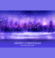 merry christmas winter bokeh background evening vector image vector image