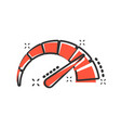 meter dashboard icon in comic style credit score vector image vector image