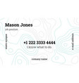 mint and gray creative business card template vector image