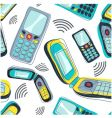 mobile phone pattern vector image vector image