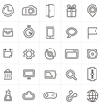 Modern web icons collection isolated on whit vector image vector image