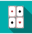 Poker cards set icon flat style vector image
